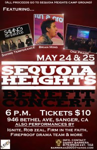 Sequoia Heights Benefit Concert @ Bethel Christian School | Sanger | California | United States
