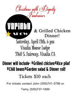 Variety Show & Dinner Fundraiser @ Visalia Moose Lodge | Visalia | California | United States