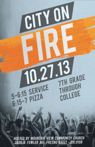 City On Fire @ Mountain View Community Church | Fresno | California | United States
