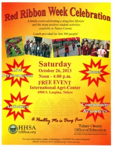 2013 Tulare County Red Ribbon Week Celebration @ International Agri-Center | Tulare | California | United States