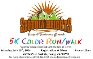 Sequoia Heights 5K Color Run/walk @ Sequoia Heights Christian Camp Grounds | Posey | California | United States