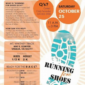 Running For Shoes  @ Mt. Whitney High School Track | Visalia | California | United States