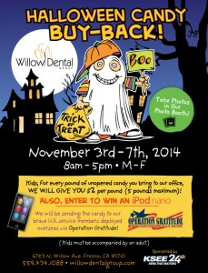 Halloween Candy Buyback @ Willow Dental Group | Fresno | California | United States