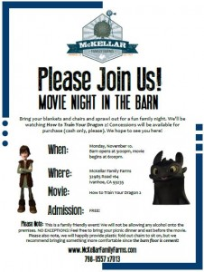 Movie Night on the Farm @ McKellar Family Farms/Historic Seven Sycamores Ranch | Ivanhoe | California | United States