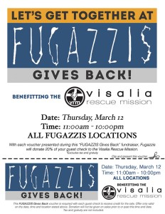 Fugazzi's Gives Back to the VRM! @ ALL Fugazzi's Locations | Visalia | California | United States