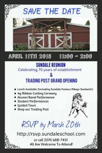 Sundale School Reunion @ Sundale School Reunion   Tulare   California   United States