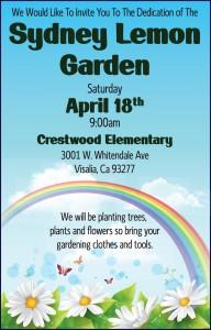 Dedication Of the Sydney Lemon Garden @ Crestwood Elementary | Visalia | California | United States