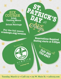 St. Patrick's Day Meal (supporting the VRM) @ Cafe 225  | Visalia | California | United States
