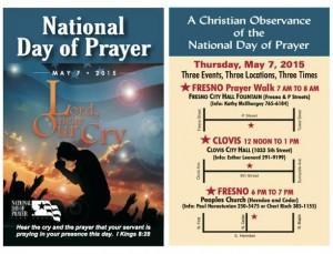 National Day of Prayer - Three Events, Three Locations, Three Times (Fresno/Clovis) @ National Day of Prayer | Fresno | California | United States