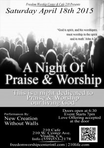 A Night of Praise and Worship @ 210 Cafe | Visalia | California | United States