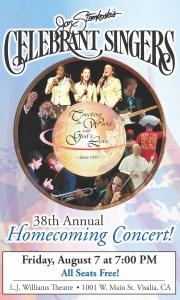 Celebrant Singers 38th Annual Homecoming Concert @ LJ Williams Theatre | Visalia | California | United States