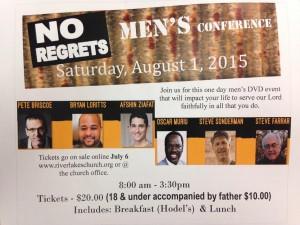 No Regrets Men's Conference @ RiverLakes Community Church | Bakersfield | California | United States