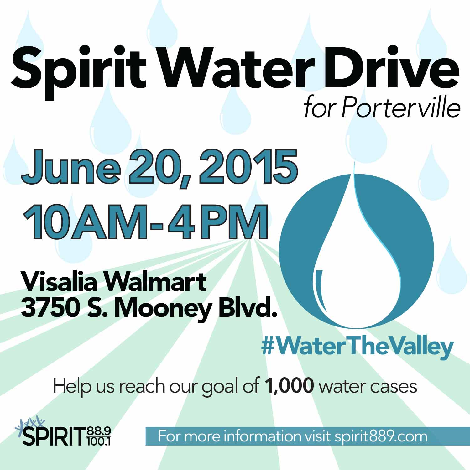 Spirit's #WaterTheValley Water Drive! @ Wal- Mart | Visalia | California | United States