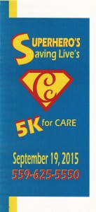 5K For Care; Superheroes Saving Lives @ Cutler Park | Visalia | California | United States
