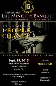 13th Annual Jail Ministries Banquet @ Visalia First Assembly