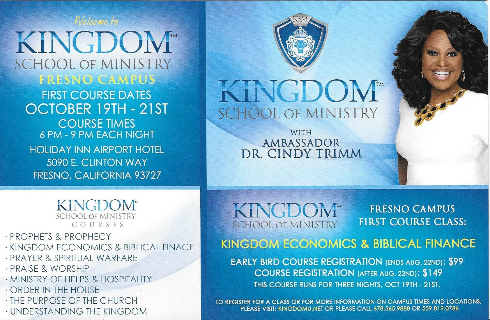 Kingdom School of Ministry @ Holiday Inn Airport Hotel | Fresno | California | United States