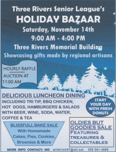 30th Annual Three Rivers Holiday Bazaar @ Three Rivers Memorial Building | Three Rivers | California | United States
