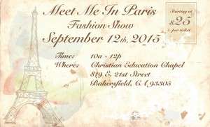"The Mission at Kern County Ladies Guild ""Meet Me In Paris Fashion Show"" @ The Christian Education Chapel"