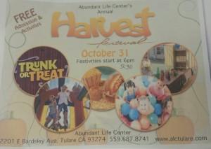 Harvest Festival Tulare @ Abundant Life Center | Tulare | California | United States