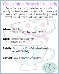 Visalia Birth Network Tea Party @ 210 Cafe | Visalia | California | United States