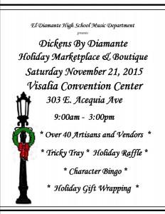 Dickens By Diamante Holiday Boutique & Marketplace @ Visalia Convention Center | Visalia | California | United States