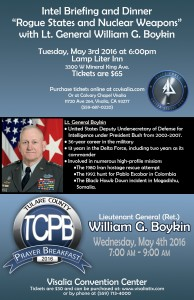 "Intel Briefing and Dinner ""Rogue States and Nuclear Weapons"" @ Lamp Liter Inn  