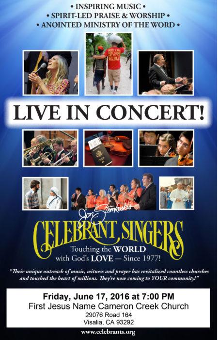 Celebrant Singers Concert @ First Jesus Name Church of Cameron Creek  | Visalia | California | United States