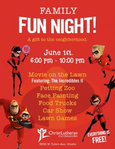 Family Fun Night @ Christ Lutheran Church @ Christ Lutheran Church