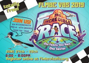 Incredible Race VBS @ First Landmark Missionary Baptist Church