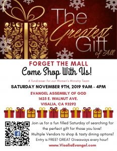 Greatest Gift Shopping Event @ Evangel Assembly of God