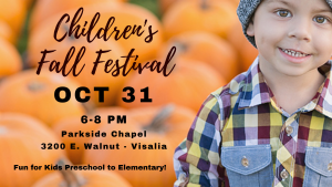 Children's Fall Festival @ Parkside Chapel