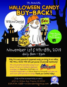 7th Annual Halloween Candy Buy-Back @ Willow Dental Group