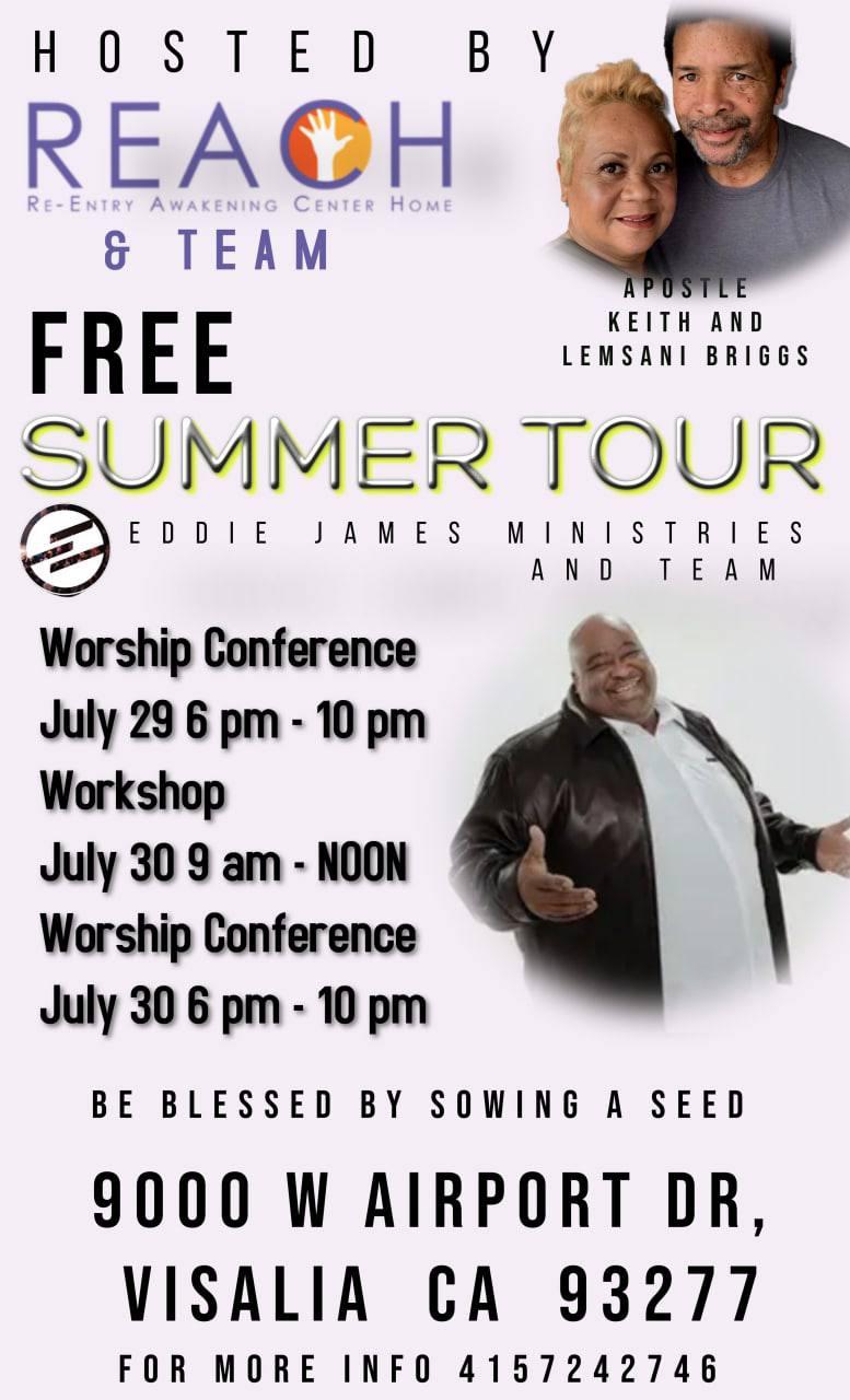 Eddie James Summer Tour - Worship Conference @ Wyndham Visalia | Visalia | California | United States